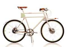Faraday Porteur, and electric-pedal bike from Faraday Bicycles. Beautiful!