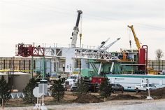 I was on my way to a photoshoot north of Fort Collins, Colorado when I saw a Precision Drilling Company (PDC) rigging down from a location along the Oilfield Life, Big Oil, Oil Rig, Fort Collins, Rigs, Green, Wedges
