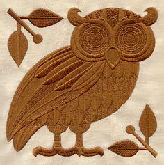 Athena's Owl design (UT3155) from UrbanThreads.com