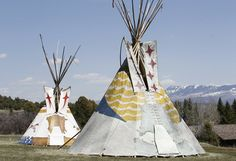 Guest teepees at Ralph Lauren's RRL Ranch near Telluride, CO