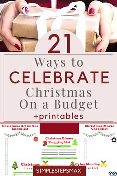 Grab these printables so you can stick to your Christmas budget this year. Save money with these incredible frugal living tips this holiday season. Discover amazing holiday budgeting ideas when on a tight budget or on a low income. #frugalchristmasideas #christmasonabudget #christmasbudget #budgeting Budget Holidays, Christmas On A Budget, Family Christmas, Christmas Activities, Christmas Printables, Christmas Traditions, Christmas Dinner Shopping List, Tight Budget, Christmas Movies