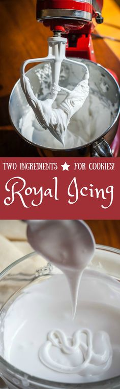 A simple TWO ingredient royal icing recipe that works really well for decorating cookies
