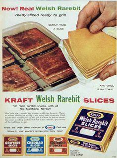 Welsh Rarebit cheese slices, 1961