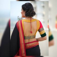 Blouse Back Neck Designs, New Saree Blouse Designs, Blouse Designs Catalogue, Choli Blouse Design, Simple Blouse Designs, Stylish Blouse Design, Designer Blouse Patterns, Making Ideas, Fashion Hub