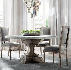 New Marble Dining Table DINING Pinterest Marble Top Table - Marble top circle dining table