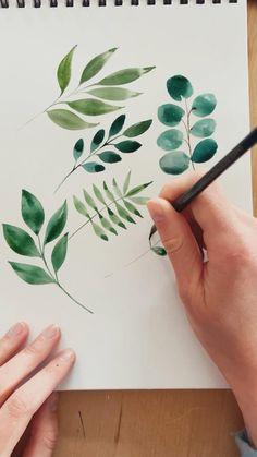 Watercolor Beginner, Watercolor Paintings For Beginners, Watercolor Art Lessons, Watercolor Painting Tutorials, Watercolor Video, Watercolor Drawing, Flower Drawing Tutorials, Flower Pencil Drawings, Flower Design Drawing
