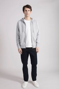 The Zip Hoodie: Men's Egyptian Cotton Loopback Zip Hood Sweatshirt Mens Sweatshirts, Hoodies, Men's Apparel, Egyptian Cotton, Zip Hoodie, Archive, Normcore, Clothes, Products