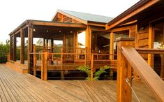 elephant hide is a wooden holiday resort in knysna Knysna, Holiday Resort, Architecture Student, Wooden House, Elephant, Deck, Cabin, House Styles, Outdoor Decor