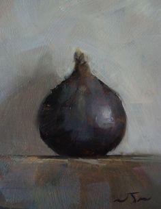 Original Oil Painting - Fig- Contemporary Miniature Still Life Art - Nelson | eBay