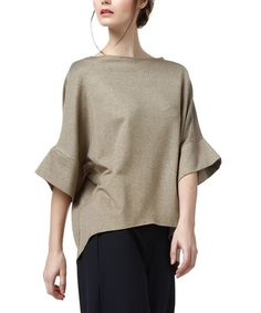 Gold Bell-Sleeve Top
