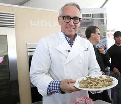 Geoffrey Zakarian from Iron Chef performing a cooking demo!