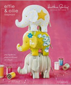 These cute elephants are fun and easy to sew