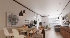 petit appartement avec déco asiatique de style oriental