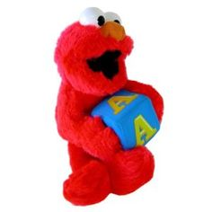 """Sesame Street Character Plush Doll - Learning ABC Elmo 10"""" Stuffed Animal (Toy) http://postteenageliving.com/amazon.php?p=B00263Z20W"""