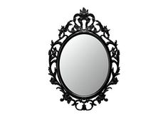 Gloss white oval picture frame mirror shabby chic baroque for Miroir ung drill