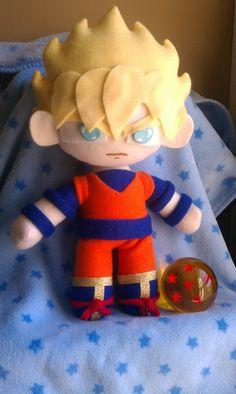 $50 Inspired by Dragon Ball Z, Super Saiyan Goku Plush :3