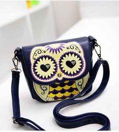 owl purses | ... Ladies-Lovely-Navy-blue-owl-style-Shoulder-Bag-Messenger-Handbag-Purse