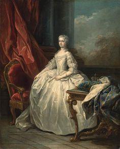 Marie Lezszcynska,Queen of France by circle of Carle van Loo in c.1725