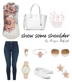 """""""Show me shoulder"""" by morgan-defstyle on Polyvore featuring J Brand, Lacoste, Michael Kors, Chloé, NAKAMOL, Nine West and Vintage"""