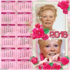 2016 Calendar Roses Dreams March 3rd, September, 2016 Calendar, Family Album, Roses, Dreams, Template, Pink, Rose