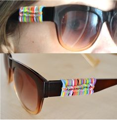Sunglasses with rubber bands - Brýle ozdobené gumičkami