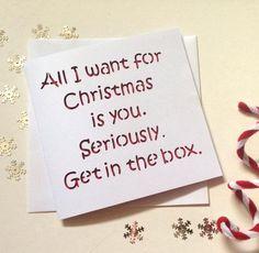Christmas card, funny christmas card, christmas card boyfriend, christmas card girlfriend, card boyfriend, card girlfriend, christmas wife by AprilDaysDesigns on Etsy