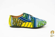 Belya handmade brogue shoes made from African wax print and leather. – Bélya