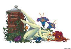 poison ivy #poisonivy #comics #DC #art #illustration