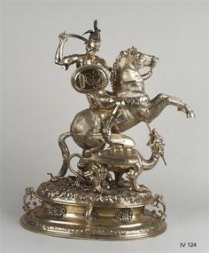 St. George fighting the dragon as a drinking vessel  Kellner, Hans (Goldsmith)  Between Nuremberg, 1603-1609  Nürnberg, zwischen 1603-1609