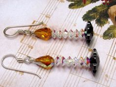 Christmas Candle Earrings Candle Earrings by HappyEverythingElse