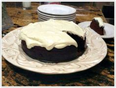 Guiness Honey Cake with Cream Cheese Frosting.