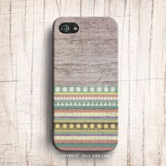 Wood Print Geometric Unique iPhone Case , iPhone 5S Case , Aztec Tribal iphone 5 case , iPhone 4 Case , Plastic iPhone 4s case