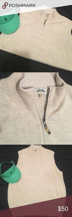 Men's Peter Millar Cashmere Half Zip Vest Sz L Men's Peter Millar Cashmere Half Zip Vest Sz L. Super expensive half zip vest made from 70% silk/ 26% cotton/ 4% cashmere.  Buy it now....this one will go quickly..... Peter Millar Sweaters Zip Up
