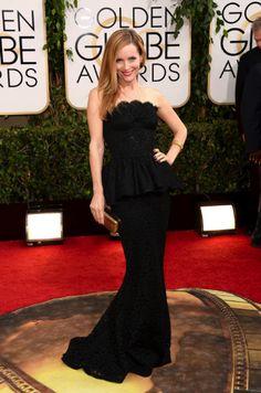 Leslie Mann in Dolce & Gabbana   Golden Globes 2014