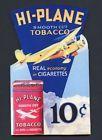 HI PLANE TOBACCO CIGARETTE MAN CAVE WALL SHELF PLAQUE DECOR. VINTAGE SIGN - http://oddauctions.net/tobacciana/hi-plane-tobacco-cigarette-man-cave-wall-shelf-plaque-decor-vintage-sign/