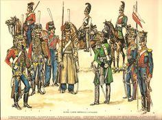 Guard Cavalry 1812: Hussars (1,3), Cossacks (2,4,5), Leib Horse Gaurd (6), Chevalier Garde (7), Dragoon (8), Uhlans (9,10). Louis de Beaufort