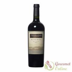Terrazas Malbec, sticla L - www. Red Wine, Alcoholic Drinks, Bottle, Glass, Food, Gourmet, Wine, Drinkware, Flask