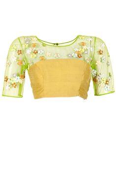 Green frangipani yoke blouse available only at Pernia's Pop-Up Shop.