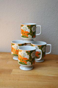 Vintage Floral Coffee Mug set