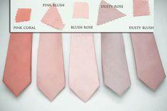 semi shiny mauve dusty rose blush ties, pink rose blush,rose coral ties,dusty blush rose,groomsmen,men,dusty blush wedding,blush rose ash