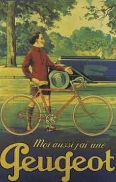 Moi aussi j'ai une Peugeot vintage poster