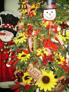 Sharing with Sherri: Sunflower Christmas Tree
