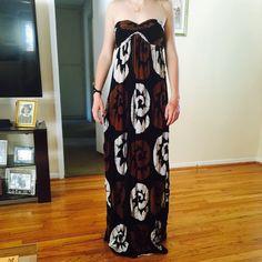 HPIndah strapless maxi dress Indah strap less maxi dress in brown, black & white Indah Dresses Maxi