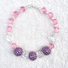 Princess Party Ideas, Pink and Purple Little Girl Necklace, Gift Ideas for Girls, Princess   Rapunzel Party Toddler Girl, Disney Princes Outfits Ideas by MyCupcakeInspiration on Etsy