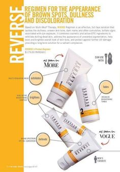 Need to Clean the Slate? Try Reverse Regimen Rodan and Fields -- To address sun damage, brown spots, dullness and discoloration.  keepcalmandloveyourskin@gmail.com  --  Suzanne Truitt
