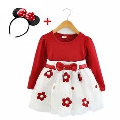 New Year Baby Girl Dress Princess Long Sleeve Tulle Patchwork Dresses Flower Birthday Red Party Clothes For Kids Ropa de niña, Girls Spring Dresses, Gowns For Girls, Dresses Kids Girl, Baby Dresses, Dance Outfits, Dress Outfits, Kids Outfits, Valentines Outfits, Patchwork Dress