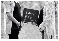 Cute maternity pictures with your best friend! We must do this someday!! @Autumn Twardowski