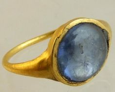 Medieval Gold and Sapphire ring