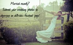 Had your wedding?! Inspire others while showing off your beautiful wedding! Send pics to carrie@okBride.com! Show Us, Carrie, Carry On, Inspire, Bridal Show, Beautiful, Wedding, Mariage, Hand Luggage
