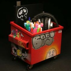 "desktop dumpster.  These look so fun.  Great for a boys room or an ""artist"" Tris needs this!"